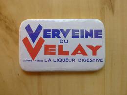 VERVEINE DU VELAY - LIQUEUR DIGESTIVE - MIROIR DE POCHE - PUBLICITE ALCOOL - Alcohols
