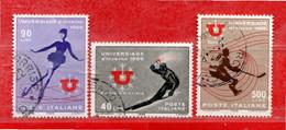 Italia °- 1966 - UNIVERSIADE D'INVERNO 1966.  Unif. 1014 à 1016. Usato - 1961-70: Gebraucht
