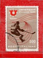 Italia °- 1966 - UNIVERSIADE D'INVERNO 1966.  Unif. 1016. Usato - 1961-70: Oblitérés