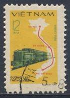 Vietnam 1980 Mi 1124 YT 252 SG 365 --used - Diesel Train + Railway Route Map / Zug, Karte Vietnams - Fernmeldetag - Treni