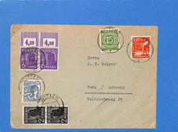 Allemagne Bizone 1948 Lettre De Witten à La Suisse (G1507) - Zona Anglo-Americana