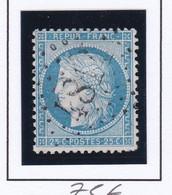 GC 4814 SAINT SAUVANT ( Dept 80 Vienne ) S / N° 60 Indice Baudot 19 Soit 420€ - 1849-1876: Classic Period