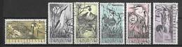TCHECOSLOVAQUIE    -  1960.  Y&T N° 1109 à 1114 Oblitérés.  Oiseaux Aquatiques .     Série Complète. - Usati