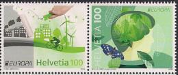 2016 Schweiz Mi. 2452-3** MNH    Europa: Umweltbewusst Leben. - Ungebraucht