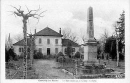 D32 - CASTERA LES BAINS - LE GROUPE SCOLAIRE ET LE MONUMENT - Castera
