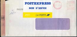 ETIQUETTE  POSTEXPRESS  SUR  LETTRE - Other