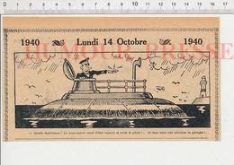 2 Vues Humour Sous-marin De Guerre Sous La Pluie Plongée Périscope + Parapluie Cane Animal Canard 198PF50  231ZG - Unclassified