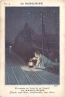 Carte Publicitaire Illustrée D'un Pierrot à La Lanterne Saxoléine Pétrole De Sûreté - Reclame