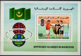 MAURITANIE - Coupe Du Monde De Football 1978 A Feuillet - Mauritania (1960-...)