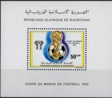 MAURITANIE - Coupe Du Monde De Football 1978 B Feuillet - Mauritania (1960-...)