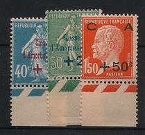 France - 1927 - N°Yv. 246 à 248 - Caisse D'amortissement - Bord De Feuille - Neuf Luxe** / MNH / Postfrisch - Ohne Zuordnung