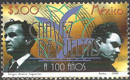 Mexico, 1999, Mi 2809,The 100th Ann. Of The Births Of Carlos Chavez & Silvestre Revueltas, Composers, 1v, MNH - Musica