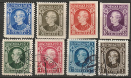 Slovakia 1939 Sc 26-33  Set Most MH*/used, Includes 28a,29a - Nuevos