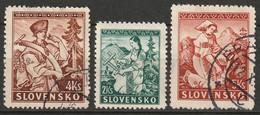 Slovakia 1939 Sc 40-2  Set MH*/used Some Disturbed Gum - Nuevos