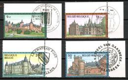 BE   2265 - 2268  Obl  --  Solidarité : Les Châreaux  -  Obl. Locales 1er Jour Coin De Feuille -  Gomme XX MNH - Used Stamps