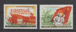 (S2022) NORTH KOREA, 1976 (30 Years Of The League Of Socialist Working Youth). Complete Set. Mi ## 1465-1466. MNH** - Korea (Noord)