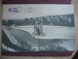Lot De 4 CPA Pour MAXI CARTE ! 21 DIJON Lac Kir Et Statue Soldat Grenadier RARE ? Exposition Philatelique DIJON LAC 1974 - Dijon