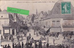 36-ARGENTON (INDRE)- AVENUE LEDRU-ROLLIN- Le MARCHE- Ecrite- TIMBREE                 (25/4/21) - Autres Communes