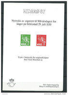Norvège, 1987 Bloc Semi Officiel Neuf, Nidarö 87 - Blocs-feuillets