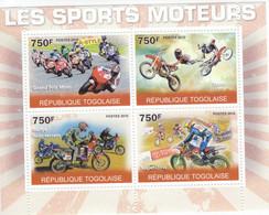 Togolaise 2010  -  Sports Motos  -  Grand Prix-Stunt-Tout-terrain Rallye-Supercross  -  4v Feuillet Neuf/MNH - Motorbikes