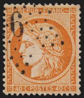 N°38, Oblitéré étoile De Paris 6 (P1), Cérès Siège De Paris 40c Orange - TB - 1870 Siege Of Paris