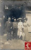 Carte Photo   Deux Couples A Vichy - Te Identificeren