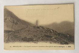 Carte Postale Ancienne - Hautes Alpes- Briançon- Monument Pour Un Officier Mort En Montagne - Briancon