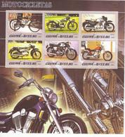 Guiné-Bissau 2005  -  Motocicletas - Honda-Suzuki-Colleda   -  6v Feuillet Neuf/MNH - Motorbikes