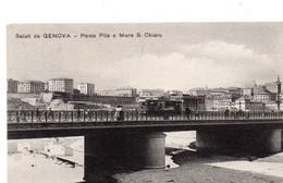 GENOVA - SALUTI - PONTE PILA E MURA SANTA CHIARA - VIAGGIATA - Genova (Genoa)