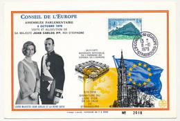 1,70 Conseil De L'Europe Obl Strasbourg 8/10/1979 - Visite De Sa Majesté Juan Carlos 1er, Roi D'Espagne - Covers & Documents