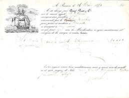 Connaissement Rassuën Pour Marseille 1854 - Fiscales