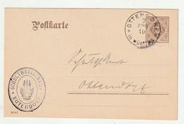 """Wuerttemberg - 1910 - Dienstpostkarte Ex """"Schultheissenamt Eutendorf"""", K1-Stempel """"OTTENDORF"""" (2613) - Wurtemberg"""