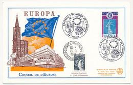 """1,00 Semeuse Oblit Temporaire """"94 THIAIS Drapeau D'honneur De L'Europe"""" 21/22/10/1978 - + Ca Conseil Europe Strasbourg - Bolli Commemorativi"""