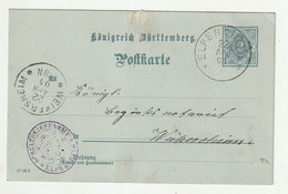 """Wuerttemberg - 1904 - Dienstpostkarte Ex """"ELPERSHEIM"""", Ankunftsstempel """"Weikersheim"""" (2614) - Wurtemberg"""
