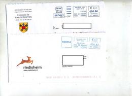 Lot 10 Lettre Machine Ecopli Entete Mairie Haut Rhin à Voir - Sellado Mecánica (Otros)