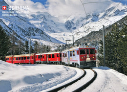 Berninabahn,Montebello-Kurve, Ungelaufen - Trenes