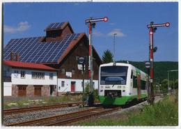 Regio-Shuttle Der Erfurter Bahn EB,im Bahnhof Gräfendorf, Ungelaufen - Trenes