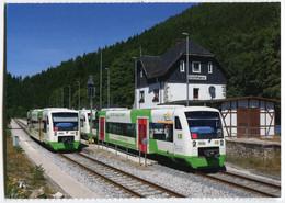 Regio-Shuttle Der Erfurter Bahn EB,im Bahnhof Lichtentanne, Ungelaufen - Trenes
