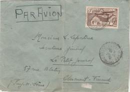 MAROC Yvert PA 47 Seul Sur Lettre Casablanca 1941 Pour Petit Journal Clermont Ferrand Puy De Dôme France - Covers & Documents