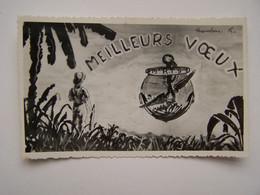 FRANCE Algérie Française Carte De Voeux 1948/49 15 Iéme Régiment De Tirailleurs Sénégalais Basé à Philippeville - Documents