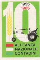 Tessera - ALLEANZA NAZIONALE CONTADINI 1955-1965 - CORREGGIO - Non Classés