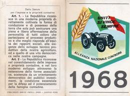 Tessera - ALLEANZA NAZIONALE CONTADINI 1968 - CORREGGIO - Non Classés