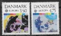 Danemark 1991 N° 1004/1005 Europa L'Europe Et L'espace - 1991