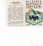 Tessera - ALLEANZA NAZIONALE CONTADINI 1969 - CREMONA - Non Classés