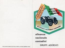 Tessera - ALLEANZA NAZIONALE CONTADINI - Gruppi Aderenti - FEMMINILE 1970 - CORREGGIO - Non Classés