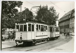 Tram/Strassenbahn Mühlhausen,Wilhelm-Pieck-Platz,Triebwagen 40.11, Ungelaufen - Tramways