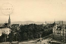 Tram/Strassenbahn Zittau,Blick Vom Bahnhof,1918 Gelaufen - Tranvía