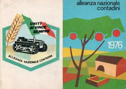 Tessera - ALLEANZA NAZIONALE CONTADINI 1976 - REGGIO EMILIA - Non Classés