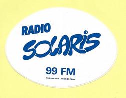 AUTOCOLLANT STICKER - RADIO SOLARIS 99 FM - ROUEN - Stickers