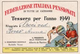 Tessera - FEDERAZIONE ITALIANA PENSIONATI - TRIESTE 1949 - Unclassified